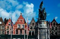 Markt (Market Square). Bruges. Flanders, Belgium