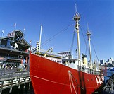 Lightship, South Street seaport, downtown, Manhattan, New York, USA