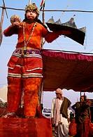 Hanuman god, Khumb Mela Festival (2001). Allahabad, Uttar Pradesh, India