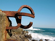 'Peine del Viento' (Wind's Comb), Eduardo Chillida sculpture. Donostia, San Sebastian. Euskadi. Spain