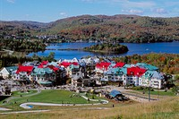 Mt. Tremblant resort village and lake in autumn. Laurentians. Québec. Montréal