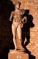 Statue, of, Hadrian, (excavation,, Quartier, de, Puymin,, Vaison-la-Provence,, Vaucluse,, Provence,, Southern, France