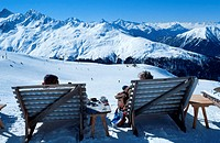People, on, deckchairs, viewing, the, alps,, Davos,, Graubunden,, Switzerland