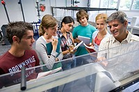 Polytechnic School, University of the Basque Country, Donostia, Gipuzkoa, Basque Country. Students, Hydraulic facilities laboratory, Department of Nuc...