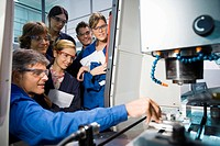 Polytechnic School, University of the Basque Country, Donostia, Gipuzkoa, Basque Country. Students, Tool-Machine Laboratory, Mechanical Engineering De...