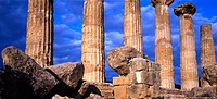 Temple of Hercules, Valle dei Templi, Agrigento, Sicilia, Italia