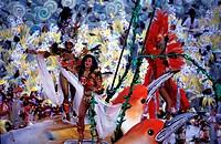 Brazil, Rio de Janeiro, carnival at the Sambodrome, Unidos da Vila Isabel school