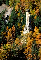 France, Hautes-Alpes (05), fairy chimney in Queyras regional natural park