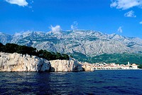Croatia, Southern Dalmatia, Adriatic Dalmatian coast, city and port of Makarska