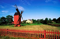 Finland, Aland area, Aland islands, Önningeby village, windmill