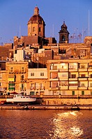Malta, Vittoriosa, small town in front of Valetta