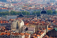 View from Fouviere basilica in Lyon, France