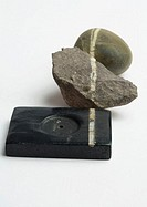 Pebble, stone, and incense holder