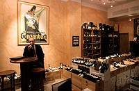 Germany, Berlin, Potsdamer Platz, inside the wine cellar Hardy Im Huth
