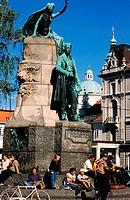 Slovenia, Ljubljana, Preseren square