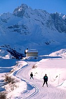 France, Hautes-Alpes (05), cross-country skiing in Clarée valley