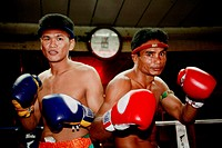 Two Thaiboxer ready for the fight