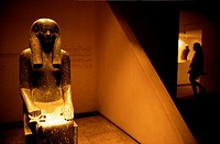 Statue in an exhibition room of Luxor museum. Egypt