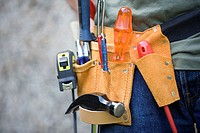 Person wearing a tool belt