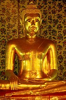 Golden Buddha figurine