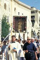 madonna della bruna procession, matera, italy