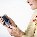 Woman with Blood Glucose Monitor