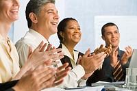 Businesspeople Applauding Speech