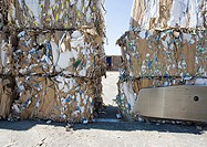 Bales of used paper