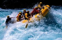 Wild water rafting on the Futaleuvu-river