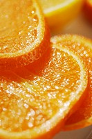 Close-up of slices of oranges