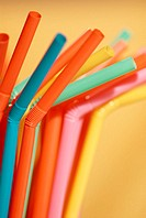 Close-up of drinking straws
