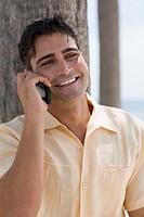 Close-up of a young man using a mobile phone (thumbnail)