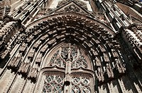 Main Portal of the 13th Century St Gatien Cathedral. Tours. France