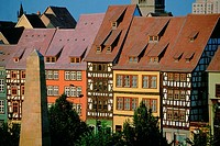 Row houses in a city, Erfurt, Germany