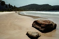 Scenic view of a deserted beach, Trinidad, Caribbean