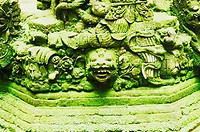 Close-up of sculptures, Bali, Indonesia