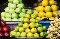 Close-up of fruit in a market stall, Bali, Indonesia