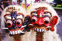 Close-up of masks, Bali, Indonesia