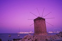 Traditional windmill at the coast