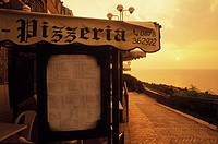 Pizzeria at the sea side, Italy