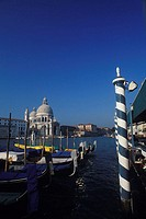Basilica at the waterfront, Santa Maria Della Salute, Venice, Veneto, Italy