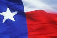 Close-up of a Texas State Flag, Texas, USA