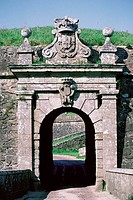 Close-up of an arch gate, Valenca, Portugal