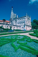 Garden in front of a palace, Bucaco Palace, Portugal
