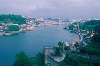 High angle view of a cityscape, Oporto, Portugal