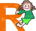 A kid with the letter R