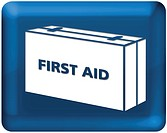 A graphic image of a first aid kit