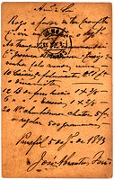 Vintage postcard with script writing, June 6 1893