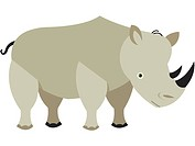 Drawing of a rhinoceros