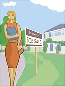 A realtor standing in front of a property (thumbnail)